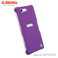 Krusell Malmo Texturecover Sony Xperia Z3 Compact Case - Purple