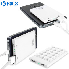 KSIX 2200mAh USB Power Bank with Suction Pad - White
