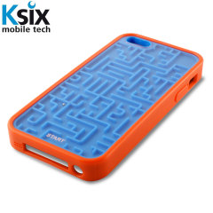 Ksix Retro Games iPhone 5S / 5 Case - Blue / Orange