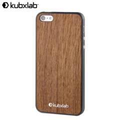 Kubxlab Ultra Thin Case for iPhone 5S / 5 - Brown Wood