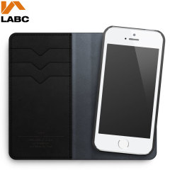 Lab C iPhone 5S / 5 Wallet Leather-Style Case - Black