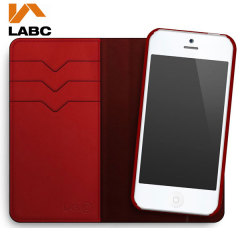 Lab C iPhone 5S/5 Wallet Leather-Style Case - Red