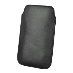Leather Pouch For Galaxy Note 2 - Black