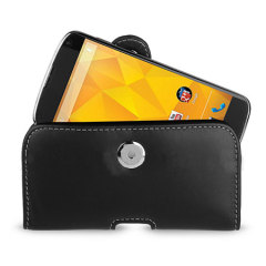 Leather Pouch for Google Nexus 4 - Black