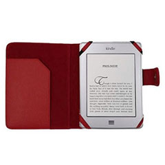 Leather Style Book Case for Kindle / Paperwhite / Touch  - Red