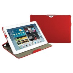 Leather Style Book Case with Stand for Galaxy Tab 2 (10.1) - Red