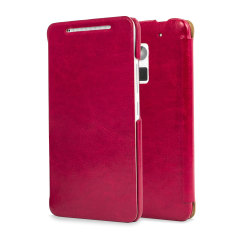 Leather Style Flip Case for HTC One Max - Pink