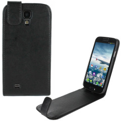 Leather Style Flip Case for Samsung Galaxy S4 -  Black