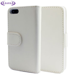Leather Style Wallet Case for iPhone 5 - White