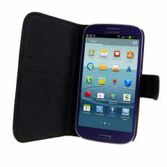 Leather Style Wallet Case with Kickstand for Samsung Galaxy S3