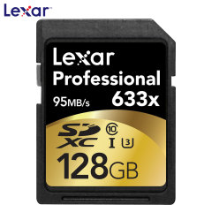 Lexar 128GB 633X Professional Class 10 UHS-I SDXC Flash Memory Card