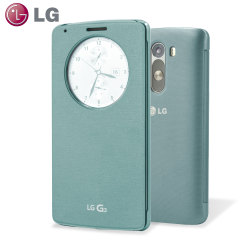 LG G3 QuickCircle Snap On Case - Aqua Mint