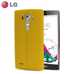 LG G4 Yellow Leather Replacement Back Cover