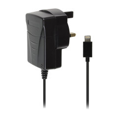 Lightning Connector Mains Charger - Black