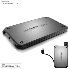 Linearflux LithiumCard Portable Power Bank - Lightning - Silver