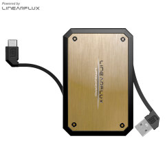 Linearflux LithiumCard Pro Portable Micro USB Power Bank - Gold