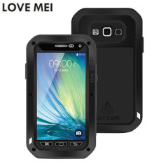 Love Mei Powerful Samsung Galaxy A5 Bumper Protective Case - Black