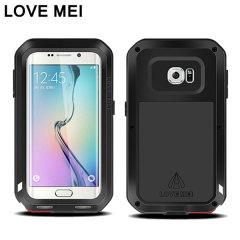 Love Mei Powerful Samsung Galaxy S6 Edge Protective Case - Black