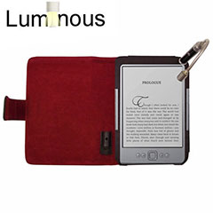 Luminous Case with Light for Amazon Kindle - Black /  Red