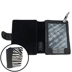 Luminous Case with Light for Amazon Kindle - Zebra