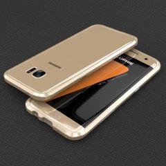 Luphie Blade Sword Samsung Galaxy S7 Aluminium Bumper Case - Gold