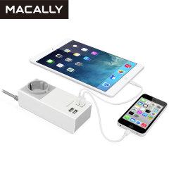 Macally UniStrip II EU 4-Port USB Wall Charger