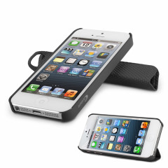 Magnetic Smart Cover and Stand Case for iPhone 5 - Black