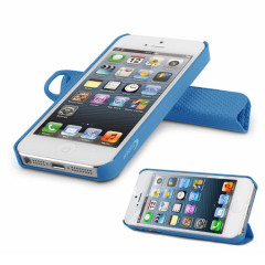Magnetic Smart Cover and Stand Case for iPhone 5 - Blue