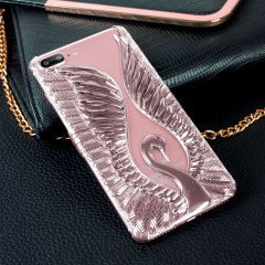 Magnificent Swan Clip-on iPhone 7 Plus Case - Rose Gold
