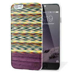 Man&Wood iPhone 6S / 6 Wooden Case - Viola Check
