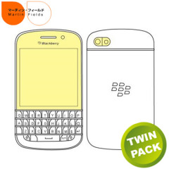 Martin Fields Overlay Screen Protector Twin Pack - Blackberry Q10