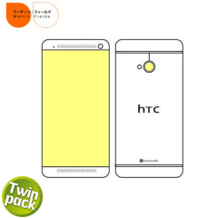 Martin Fields Screen Protector for HTC One M7 - Twin Pack