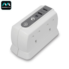 Masterplug Surge Protected 4 Plug Power Block
