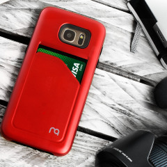 Matchnine Match4 Pocketcard Samsung Galaxy S7 Edge Case - Red
