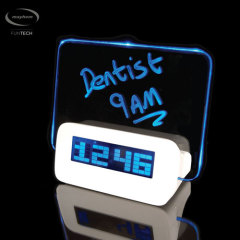 Mayhem Scribble LCD Pixel Alarm Clock - White