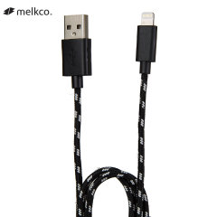 Melkco Braided Lightning Charge and Sync Cable 1M - Black