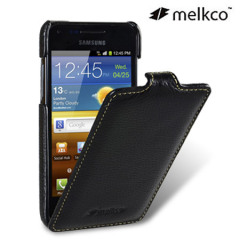 Melkco Premium Leather Flip Case for Galaxy S Advance - Black
