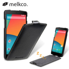 Melkco Premium Leather Flip Case for Nexus 5 - Black