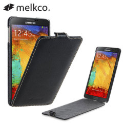 Melkco Premium Leather Flip Case for Note 3 - Black