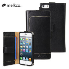 Melkco Tera Cotto iPhone 5S / 5 Premium Leather Case - Black
