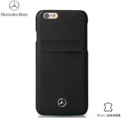 Mercedes-Benz iPhone 6S / 6 Real Leather Card Case - Black