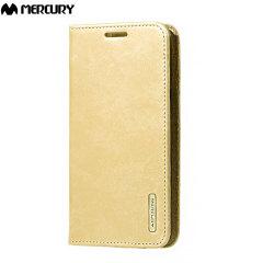 Mercury Blue Moon Flip Samsung Galaxy J5 2015 Wallet Case - Gold