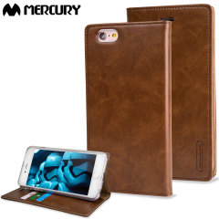 Mercury Blue Moon iPhone 6S Plus / 6 Plus Wallet Case - Brown