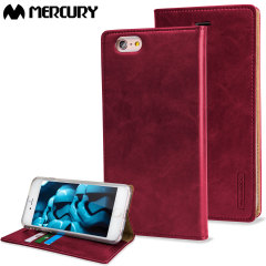 Mercury Blue Moon iPhone 6S Plus / 6 Plus Wallet Case - Wine