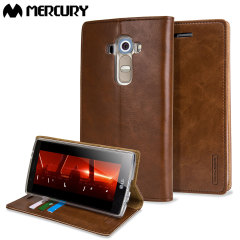 Mercury Blue Moon LG G3 Wallet Case - Brown