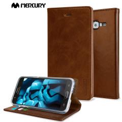 Mercury Blue Moon Samsung Galaxy J5 2015 Wallet Case - Brown