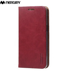 Mercury Blue Moon Samsung Galaxy J5 2015 Wallet Case - Wine