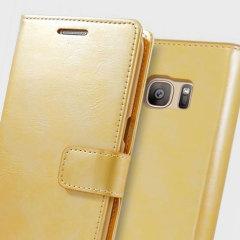 Mercury Blue Moon Samsung Galaxy S6 Edge Wallet Case - Gold