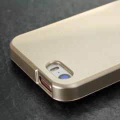 Mercury Goospery iJelly iPhone SE Gel Case - Metallic Gold
