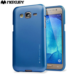 Mercury Goospery iJelly Samsung Galaxy J5 Gel Case - Metallic Blue